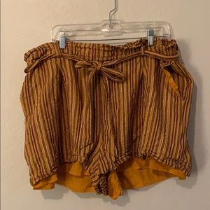 Forever 21+ Gold Striped Shorts